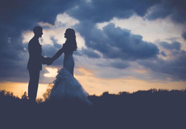 Couple de jeune marier